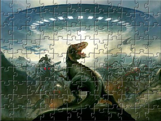 Пазлы онлайн динозавры