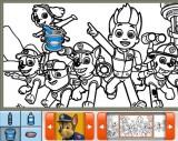 Раскраска щенячий патруль онлайн