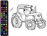 Раскраски трактора онлайн